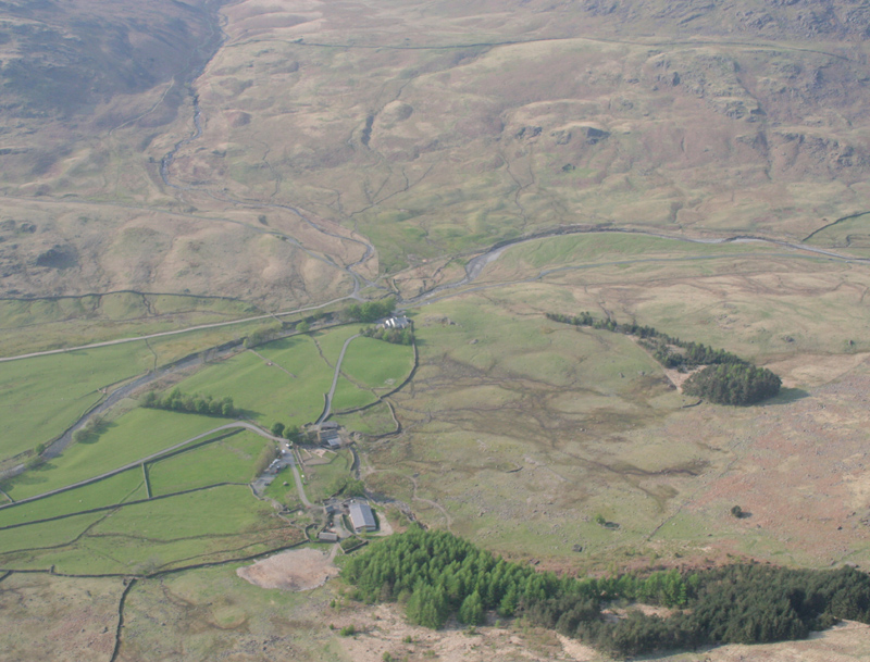 Aerial image - Cockley Beck to Hardknott