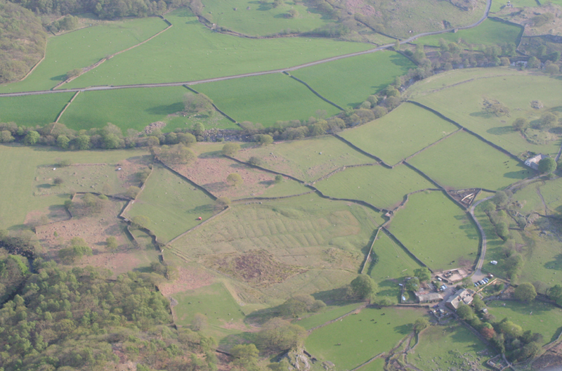 Aerial image - Wallabarrow farm retting ponds